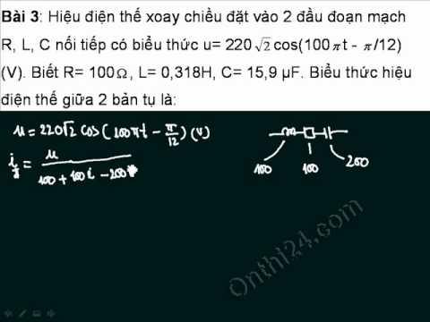 Sử dụng máy tính để giải bài toán điện xoay chiều 3
