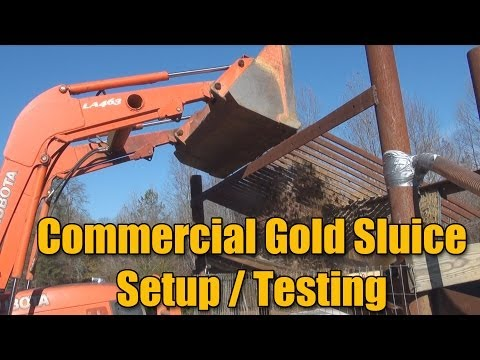 Commercial Gold Mine Sluice Matting - Test Run And Config