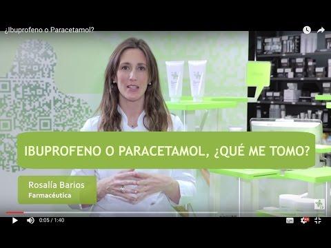 ¿Ibuprofeno o Paracetamol?