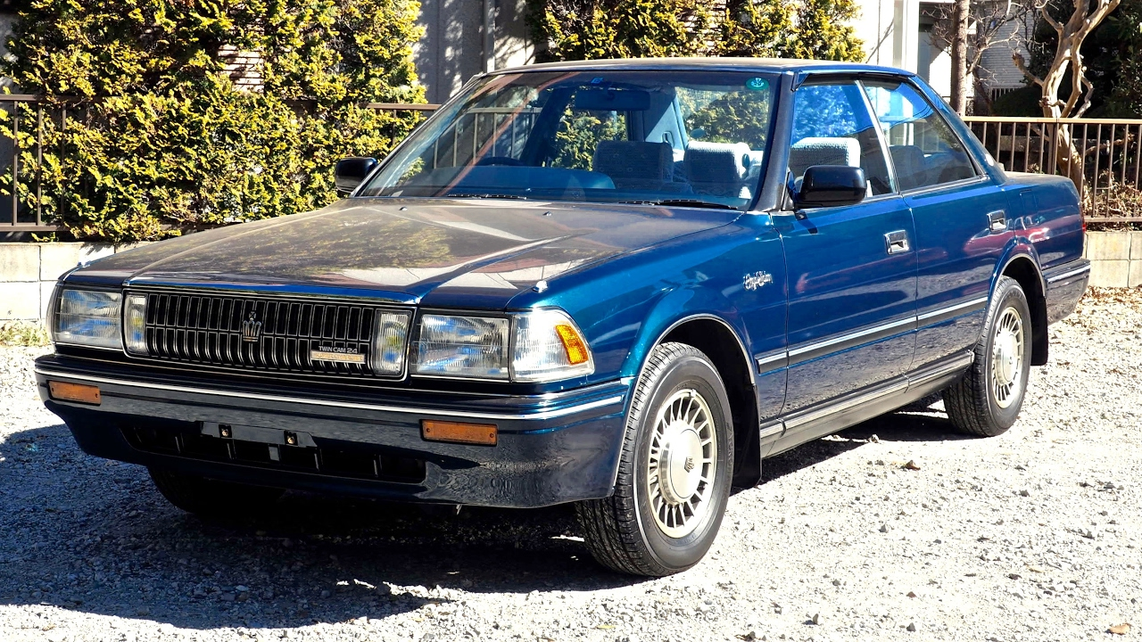 Car Auction Usa >> 1988 Toyota Crown **Perfect Car** Supercharged 1G-GZE (USA Import) Japan Auction Purchase Review ...
