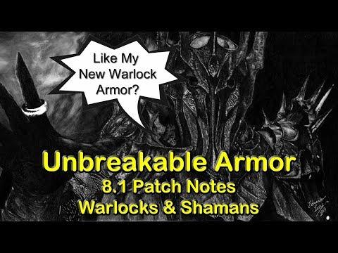 Invincible Armor - Warlocks & Shamans in 8.1 | World of Warcraft WoW BFA 8.1