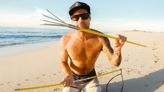 $50 HAND SPEAR CHALLENGE WHILE CAMPING Living From The Ocean - Ep 78