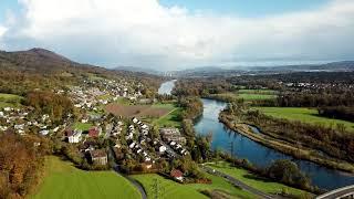 Drone Views of Switzerland in 4k: Aarau & Küttigen