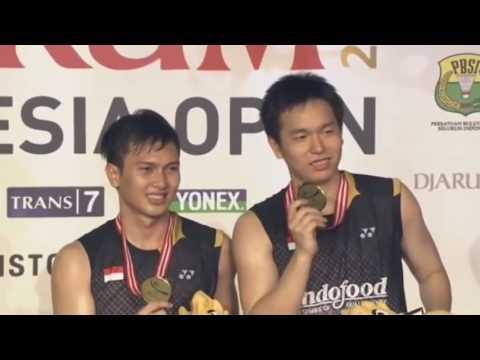 Highlights #badminton MD Lee Yong Dae / Ko Sung Hyun (KOR) VS M Ashan / Hendra Setiawan (I