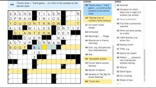 January 5, 2017 New York Times Crossword by Ed Sessa