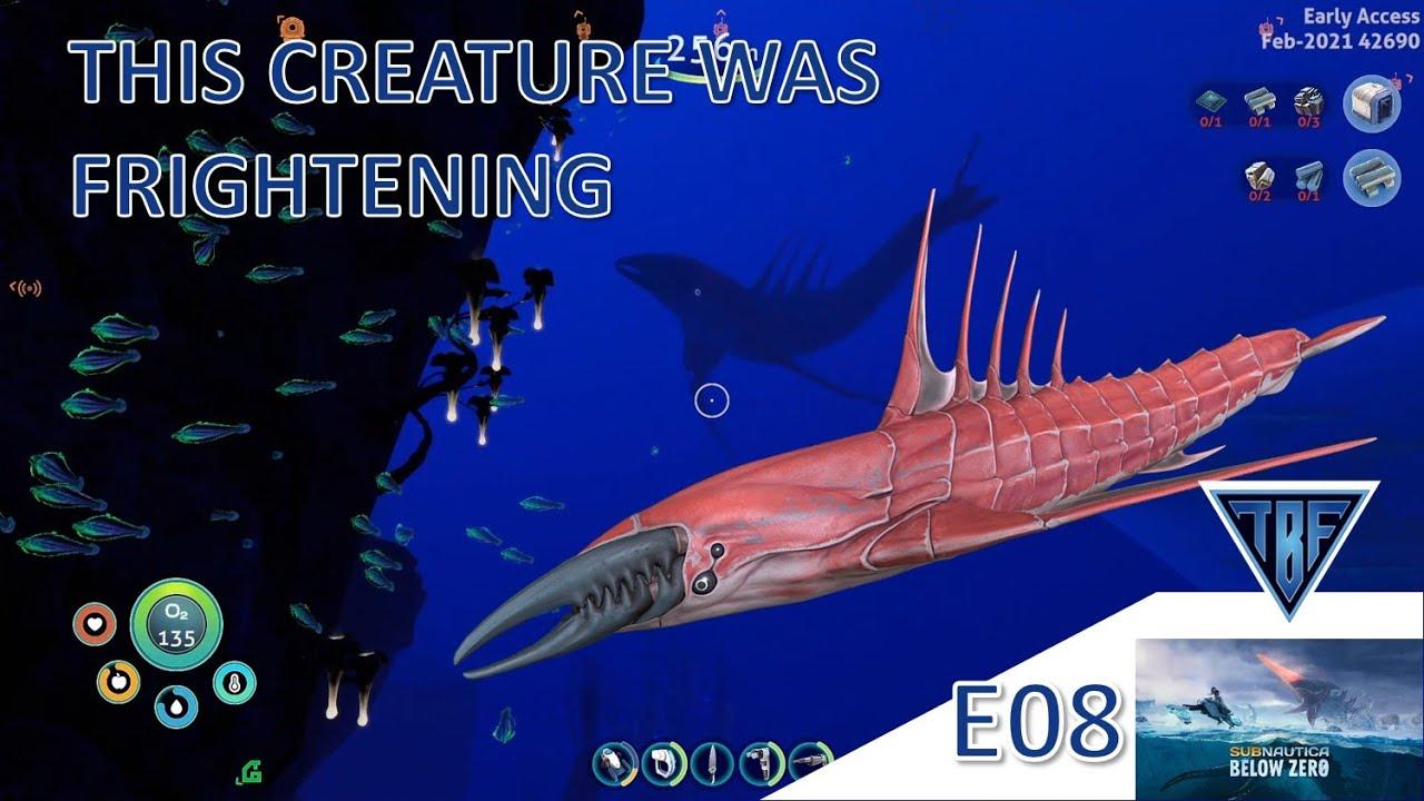 This creature came out of no where! Subnautica Below Zero E08 Subnautica Playthrough