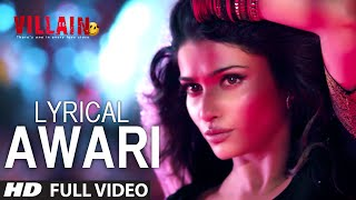 Gambar cover LYRICAL: Awari Song | Ek Villain | Sidharth Malhotra | Shraddha Kapoor