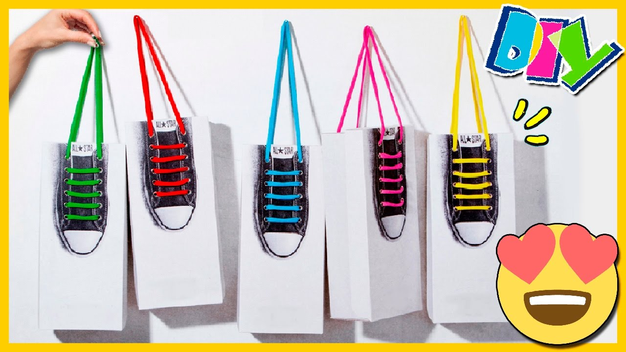 Bolsas de papel diy s per originales para regalo c mo - Como hacer bolsas de regalo ...