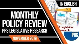 Monthly Policy Review November 2019, PRS Legislative Research for UPSC CSE Prelims & Mains | English