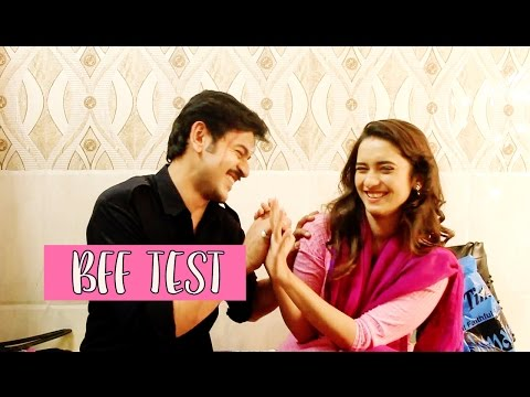 "Shivani Surve and Shashank Vyas take up the ""BFF TEST"""
