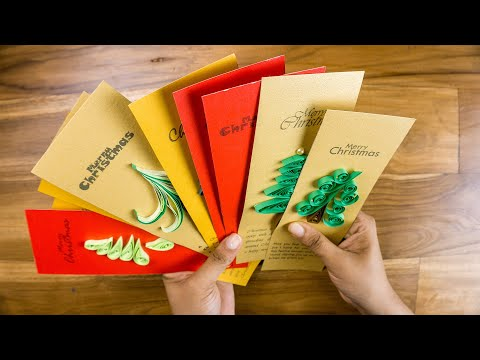 10 Christmas Cards: Handmade Paper Quilling Greetings