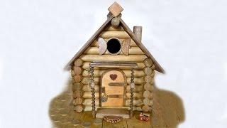 КАК сделать Домик для птичек, маленькая Избушка из брёвен