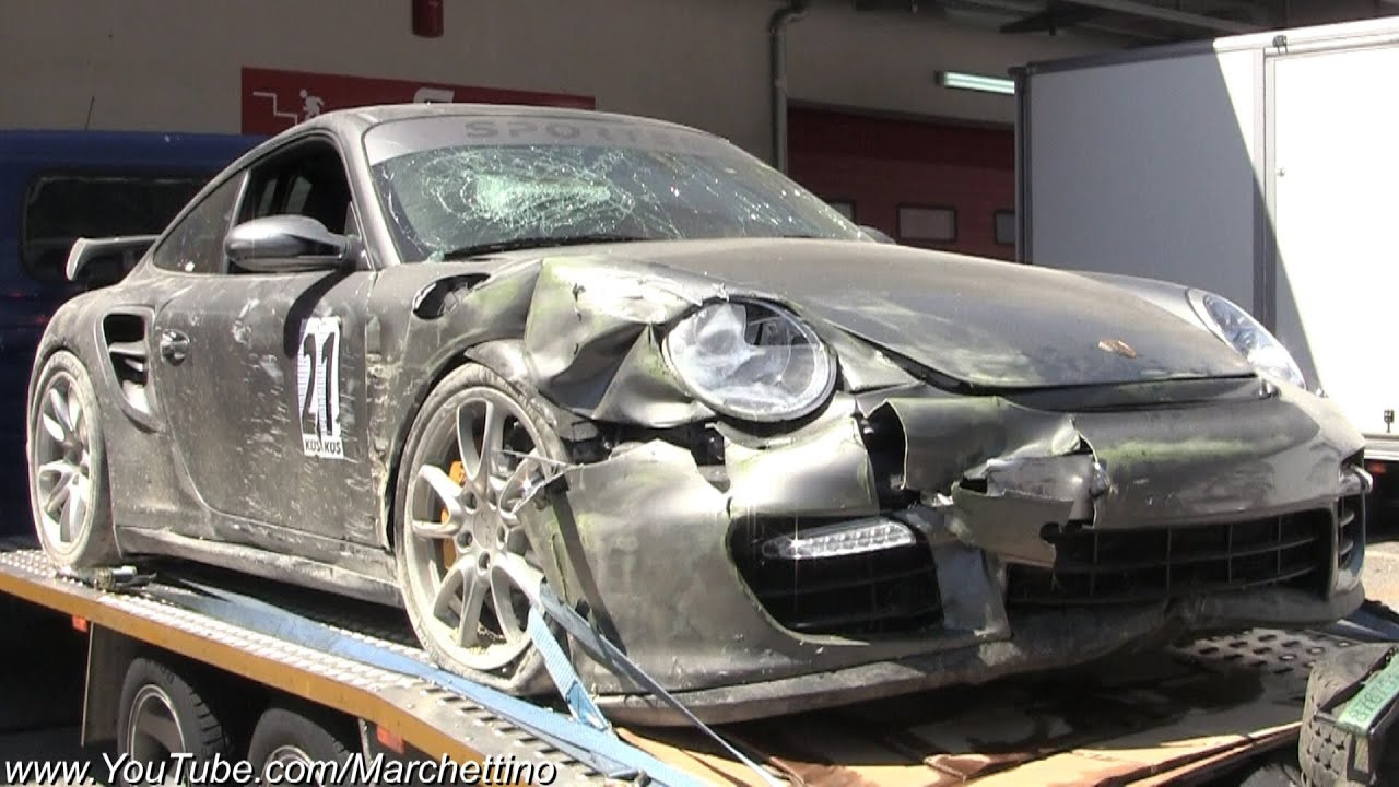 massively crashed porsche 997 gt2 and gt3 rs youtube. Black Bedroom Furniture Sets. Home Design Ideas