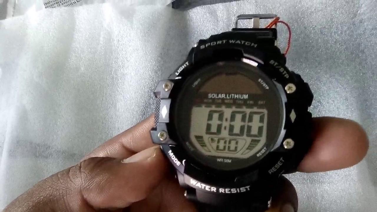 Skmei 3751 Solarlithium Watch Youtube Jam Tangan Pria Ampquotseikoampquot Original