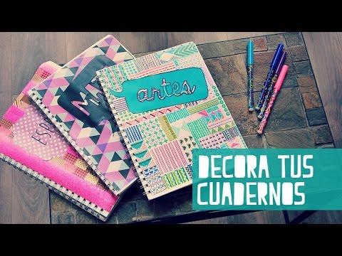 Decora tus cuadernos para el regreso a clases anie youtube - Fotografias para decorar ...