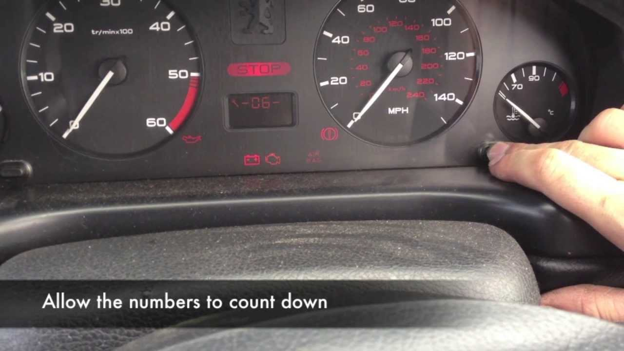 Peugeot 406 Service Reminder Reset And Deactivation