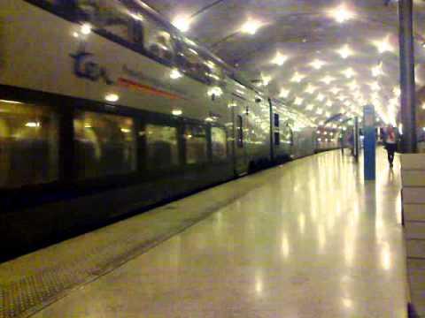 SNCF Train arrives at Monaco underground station.mp4