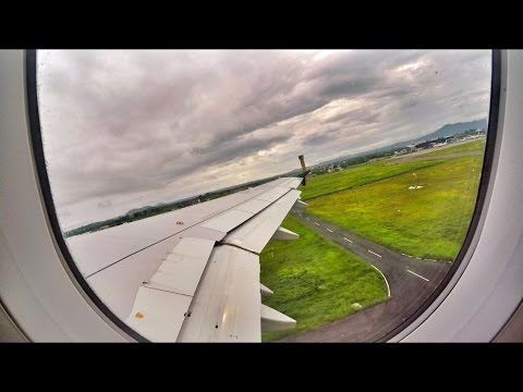 Indonesia Air Asia Take Off Lombok International Airport
