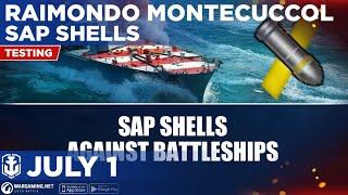 World of Warships Blitz: Tier 5 Raimondo Montecuccoli SAP Shells Against Every Tier 5 Battleship