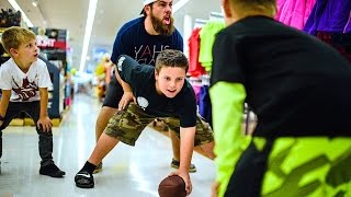 FOOTBALL IN THE GROCERY STORE! thumbnail