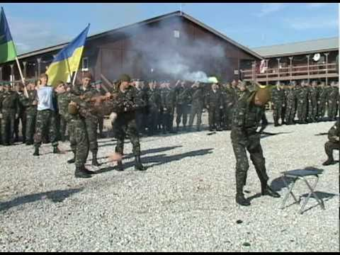 KFOR Ukrainian soldiers celebrate Ukraine Armed Forces Day at Camp  Bondsteel, Kosovo