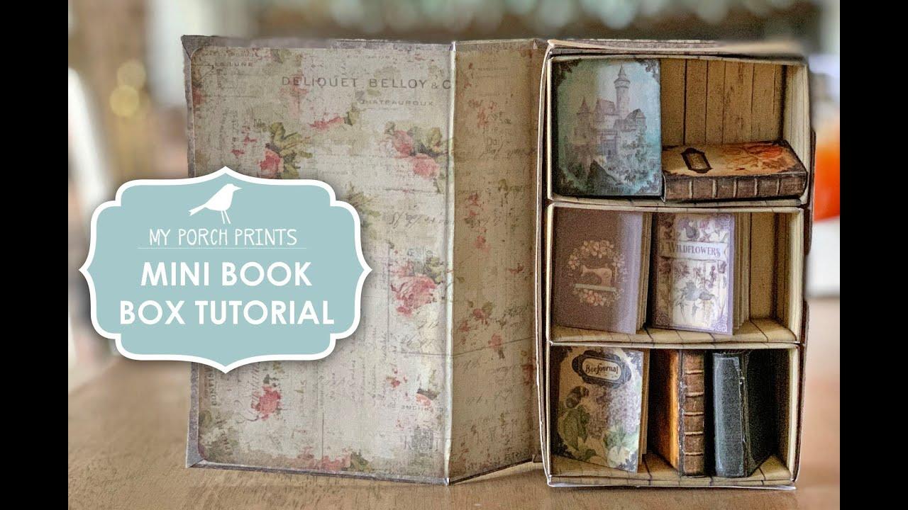 Mini Book Secret Cabinet Box Tutorial MPP