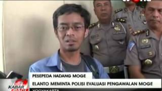 WOW HEBOH !!! Video  Polada DIY Larang Pesepeda Halangi Konvoi