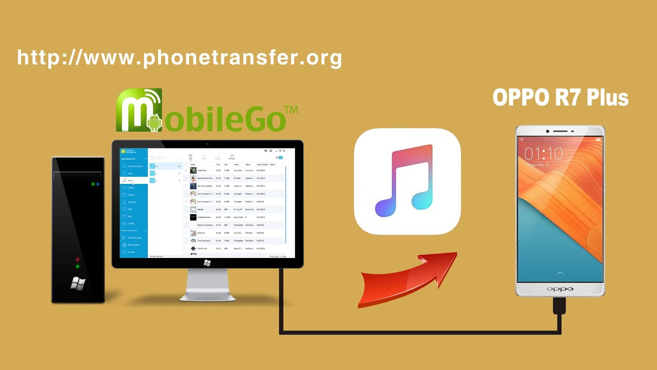 how to put songs on an oppo