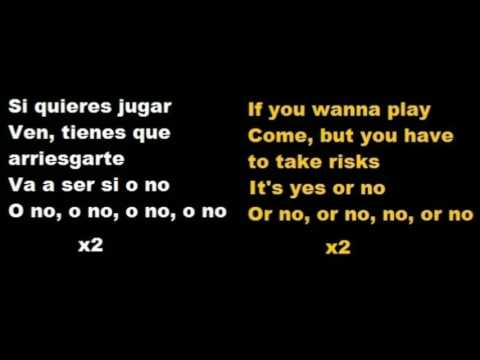 Anitta - Si O No (feat Maluma) English - Español Lyrics