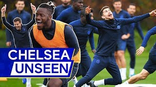 Olivier Giroud39s TWO Wonder Goals  Insane Keepy-Up Skills in Chelsea Training   Chelsea Unseen