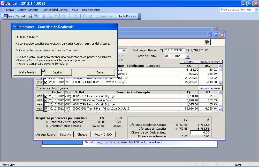 video 14 - conciliacion bancaria
