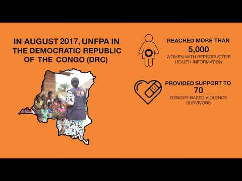 What did UNFPA do in the DRC in August 2017?