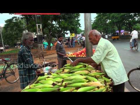 Sweet corn seller, Bhubaneswar