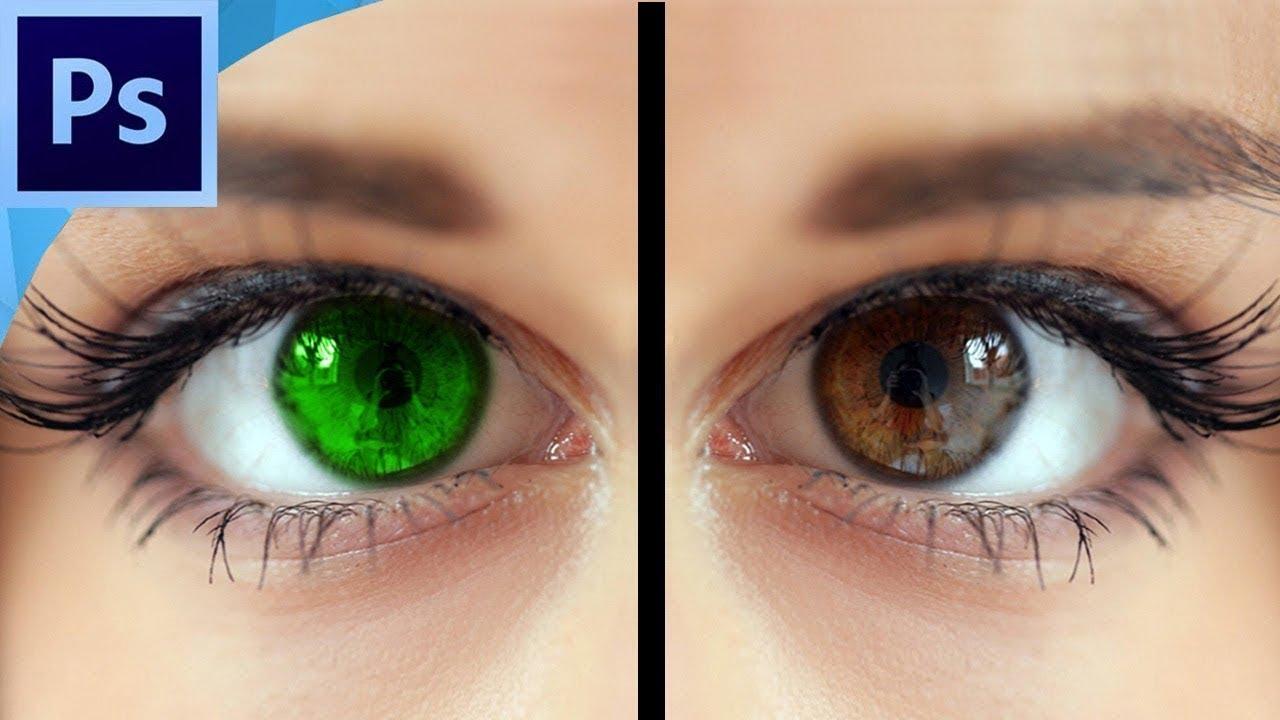 تأثير لون العيون و كيف أعملها ببرنامج الفوتوشوب
