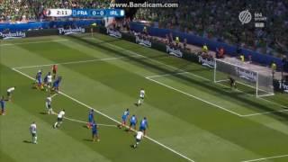 Franciaország 2-1 Írország: Brady gól