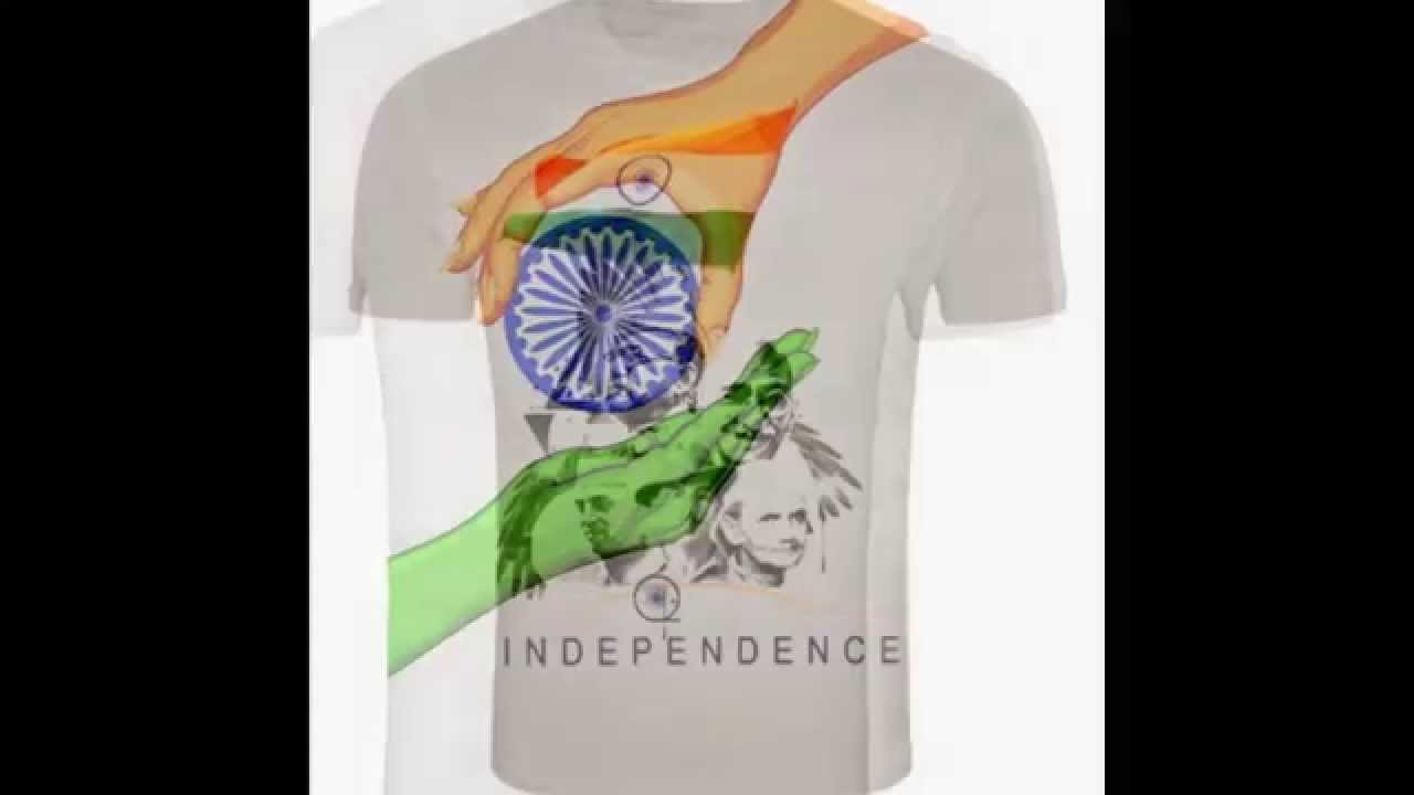 India Independence Day Tshirts India National Flags Printed T