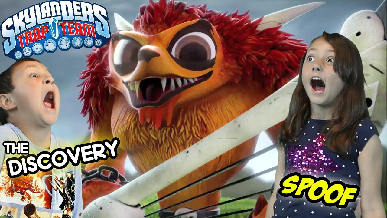 Uncategorized Skylanders Trap Team Videos skylanders trap team the discovery trailer official spoof sky kids parody youtube