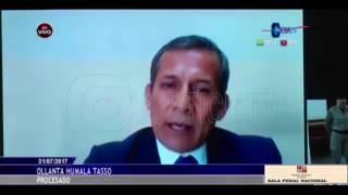 Videoconferencia Ollanta Humala en apelación de la segunda sala penal