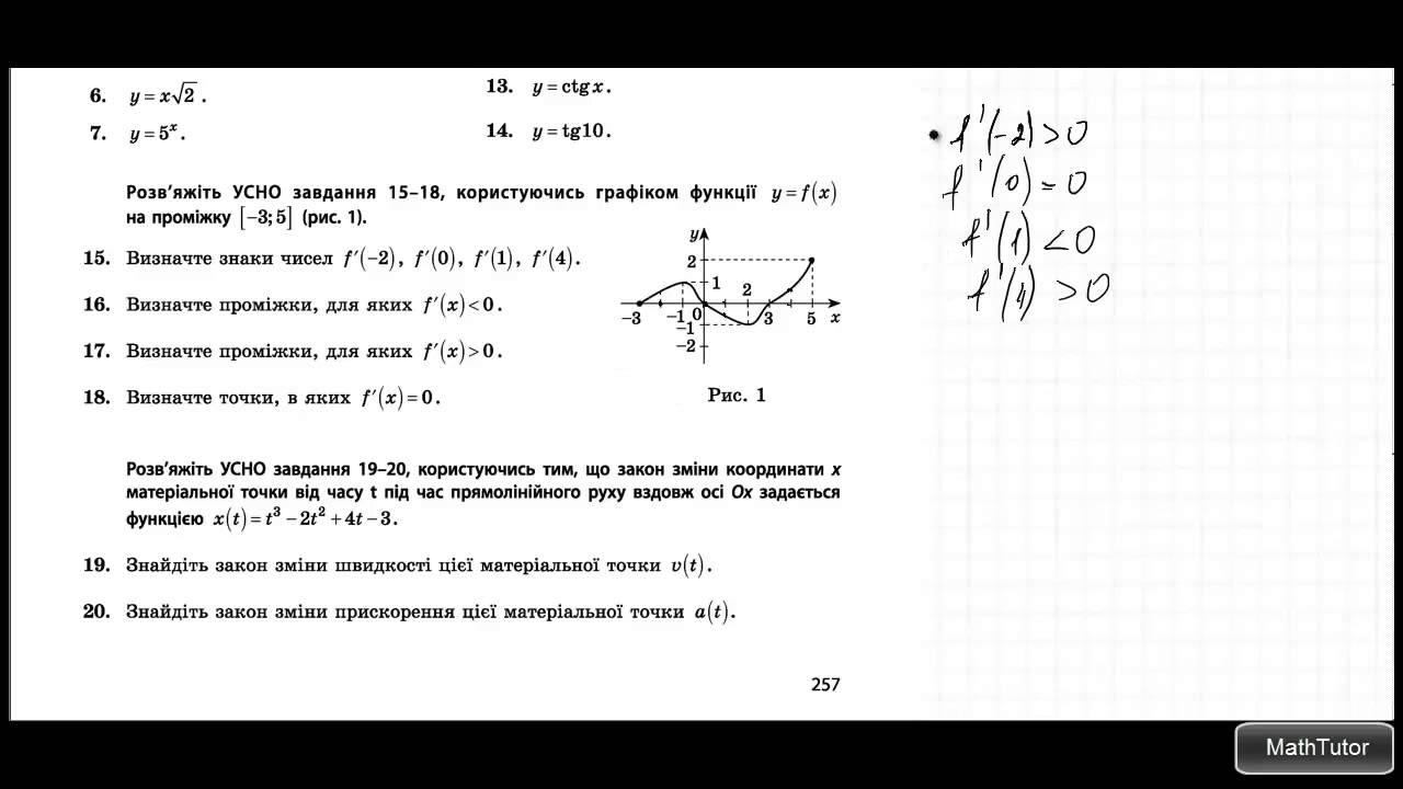 Применение производных в решении задач решение задачи по геометрии 171