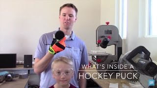 Ever wonder what is inside a Hockey Puck? We did so we found a saw and sliced the puck in half. Enjoy! Here is a link to the hockey puck we bought from ...