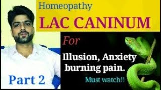 Lac caninum homeopathy remedy for mental illness, illusion, Fear of snakes, headache.#laccaninum.