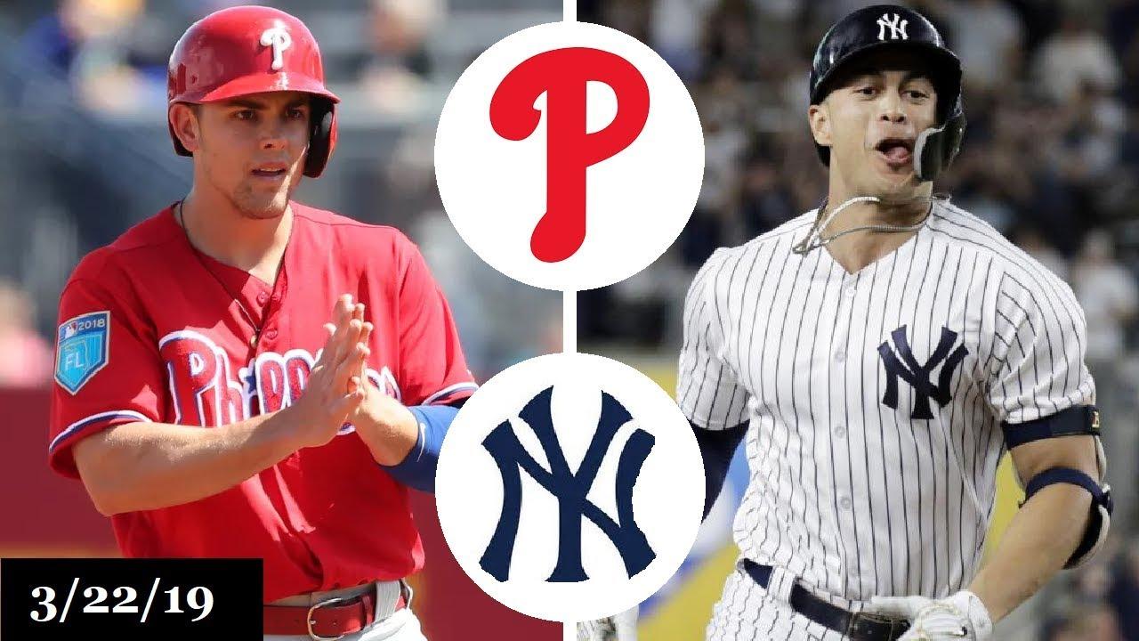 Philadelphia Phillies Vs New York Yankees Highlights