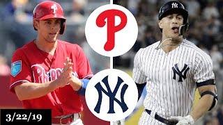 Philadelphia phillies vs new york yankees highlights   march 22, 2019 spring training
