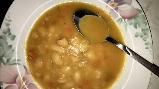 Balkansches Bohnensuppe-Rezept/Prebranac-Recept