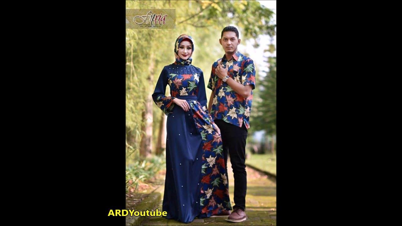 Model Baju Batik Wanita Modern 2018 Gamis Batik Pesta 2018 Youtube