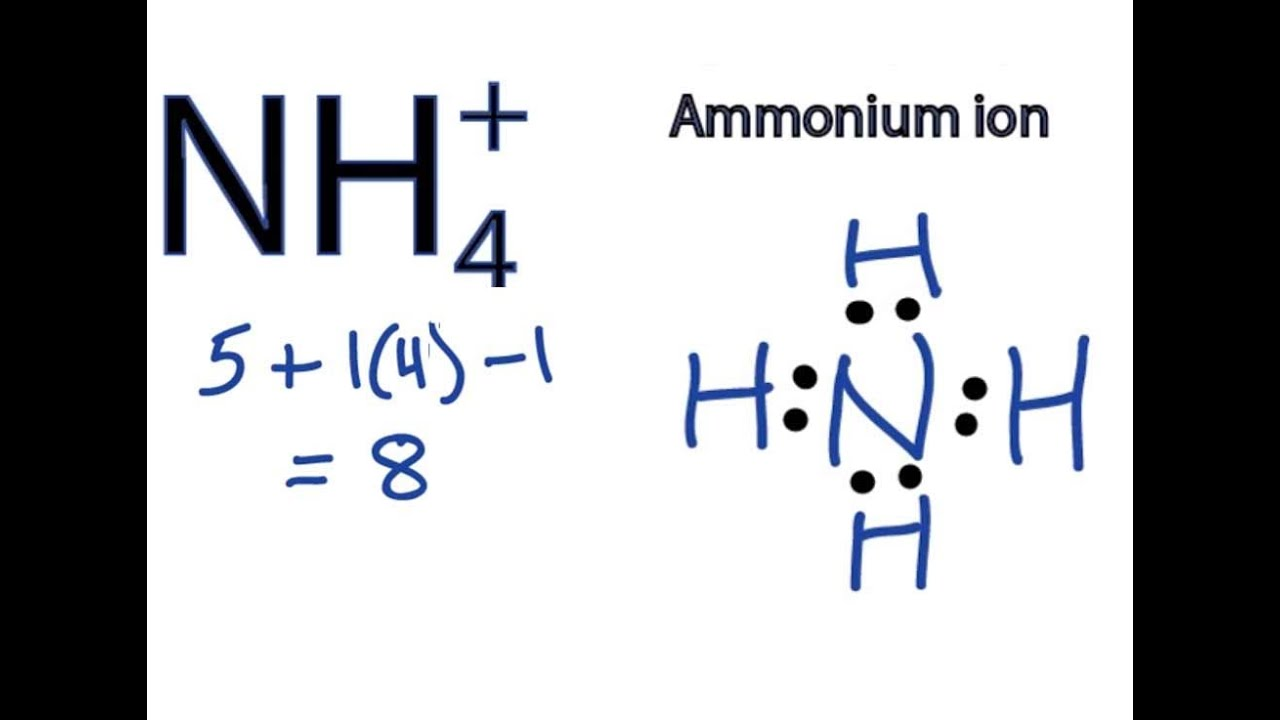 nh4 lewis structure how to draw the dot structure for nh4 ammonium ion  [ 1280 x 720 Pixel ]