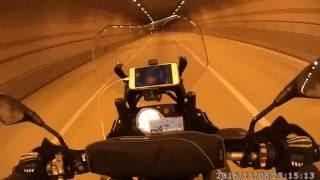 BMW S1000XR MIVV SUONO slip-on sound in tunnel