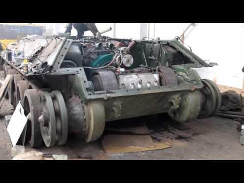 видео: Тест коробки передачи  и главного фрикциона Танка Т34-85