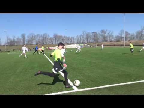msC Strikers vs Triangle FC NC Jefferson Cup 3/12/17 1st  half