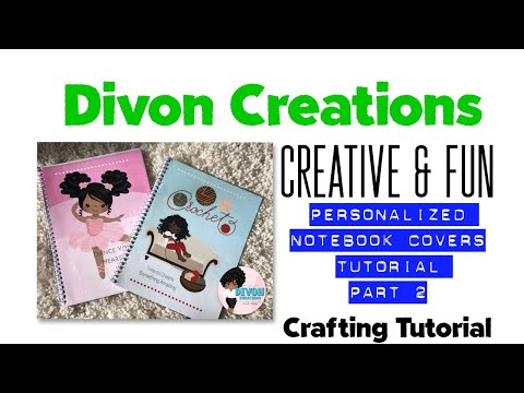 Custom Notebook covers  DIY Notebooks   Detailed video   Part 2